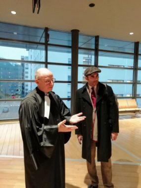 Pascal Clérotte et son avocat. ©Malo Dumay Joubert - Placegrenet.fr