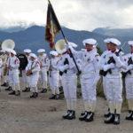 """Les troupes de montagne en position """"arme"""". ©Muriel Beaudoing - PlaceGrenet.fr"""