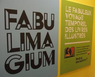 Le nom de l'exposition, Fabulimagium, convoque un imaginaire propre à l'univers du livre jeunesse. © Augustin Bordet -placegrenet.fr
