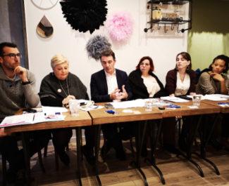 Présentation des premières propositions contre les violences sexistes et sexuelles. © Joël Kermabon - Place Gre'net