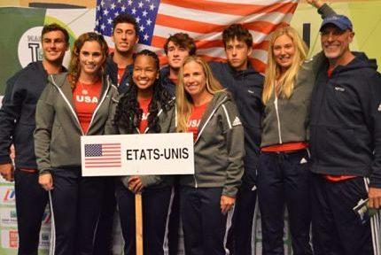 L'équipe des Etats-Unis victorieuse du Master'U BNP Paribas de tennis à Seyssins en 2018. © Laurent Genin