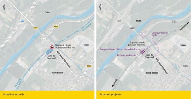 Les projets d'aménagement du Département de l'Isère et de SNCF Réseau © Département de l'Isère