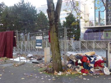 Passage près de la gare de Grenoble, le 13 novembre 2019. © Manon Heckmann - Placegrenet.fr