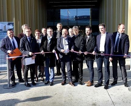 Les principaux financeurs du nouvel Institut de Formation des Professionnels de Santé (IFPS) à l'inauguration. © Raphaëlle Denis - Place Gre'net