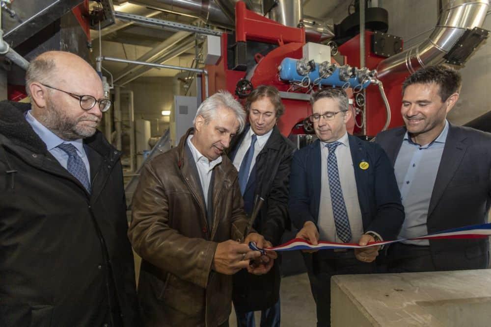 Inauguration du réseau de chaleur de Gières en octobre 2019 © Grenoble-Alpes Métropole - Lucas Frangella