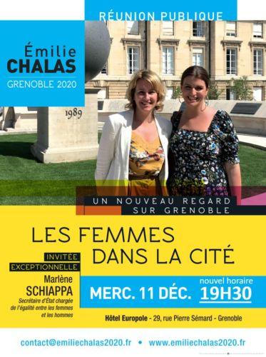 Affiche pour la réunion publique avec Marlène Schiappa © Émilie Chalas