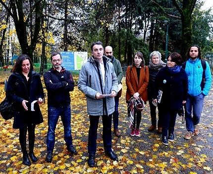 Eric Piolle et son collectif Grenoble en Commun. © Raphaëlle Denis - Place Gre'net