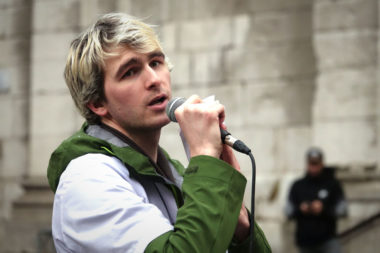 Baptiste Caylar, représentant local de l'ISNI. © Raphaëlle Denis - Place Gre'net