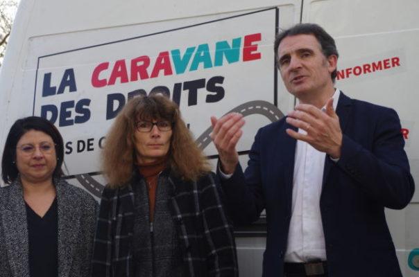 Le lancement officiel de la Caravane des droits a eu lieu mercredi 18 décembre en présence d'Éric Piolle. © Anissa Duport-Levanti - Placegrenet.fr