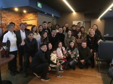 La délégation chinoise au restaurant O2