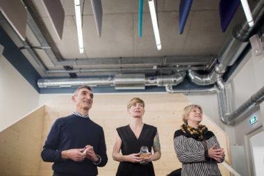 Aryballe, BGene et Enerbee, trois start-up grenobloises ont inauguré, le 10 décembre 2019, leurs locaux au cœur de Bouchayer-Viallet. Présidents d'Aryballe, BGene et Enerbee. © Chloe Perez