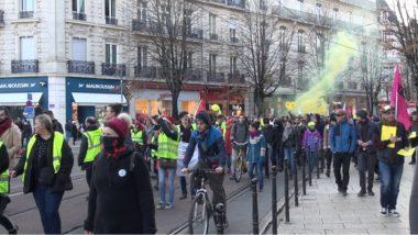 Départ de la « manifestation sauvage pacifique » contre le projet de réforme des retraites. © Joël Kermabon - Place Gre'net