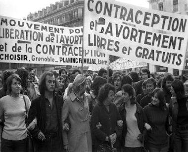 Manifestation pour le droit à l'avortement. Archives LDL / Archives Le Dauphiné Libéré.