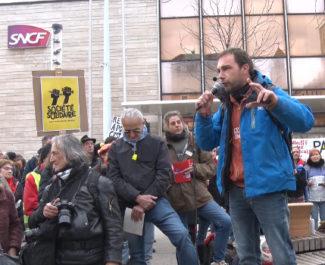 Rassemblement contre la réforme des retraites du 28 décembre 2019. © Joël Kermabon - Place Gre'net