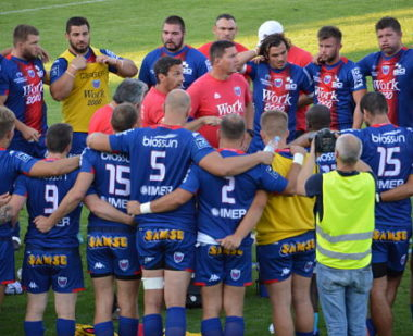 Une groupe FC Grenoble rugby saison 2019-2020. © Laurent Genin