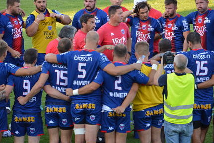 Une groupe FC Grenoble rugby saison 2019-2020. © Laurent Genin