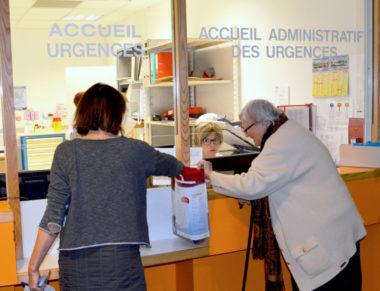 Accueil des urgences à l'hôpital de Voiron. DR
