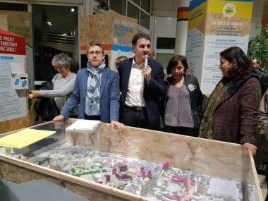 Inauguration de la maison de projet en présence des élus grenoblois © Séverine Cattiaux - Place Gre'net