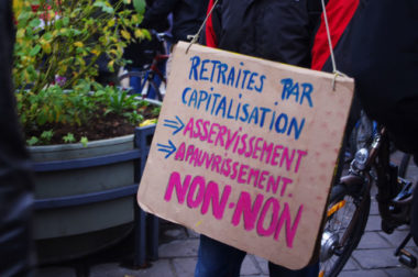 CFDT et CGT sont d'accord sur le rejet d'une retraite par capitalisation, qui ferait la part belle aux fonds de pension. © Anissa Duport-Levanti - placegrenet.fr