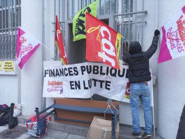 L'intersyndicale mobilisée pour ce nouveau blocage. © Joël Kermabon - Place Gre'net