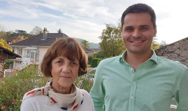 Hélène Besson-Verdonck et Philippe Paliard, leader du collectif Ensemble servir Eybens DR
