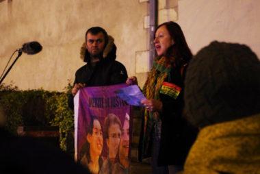 Rassemblement ce 10 janvier 2020 pour demander la vérité sur la mort de trois militantes kurdes et exiger la libération d'un ancien leader pro-kurde.