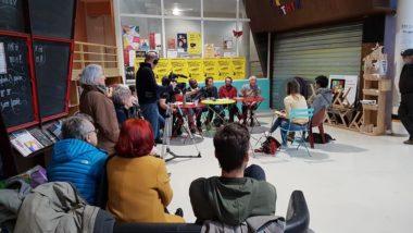 Première conférence de presse de La commune est à nous ! au Patio, samedi 18 janvier 2020. © Séverine Cattiaux - Place Gre'net