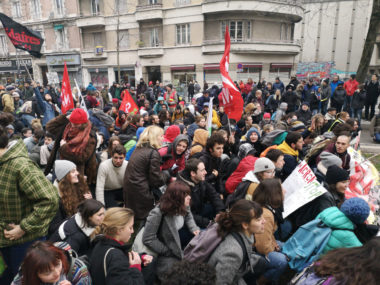 La jeunesse très présente lors de cette manifestation contre la réforme des retraites. © Joël Kermabon - Place Gre'netmanifestait aussi