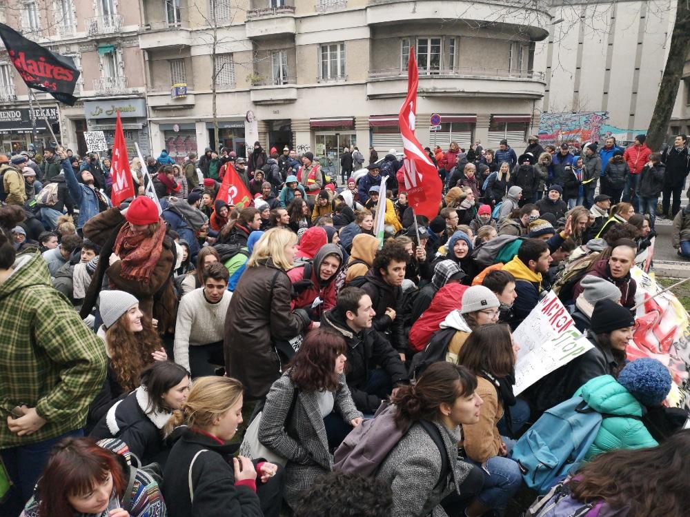 manifestation contre la réforme des retraites à Grenoble en janvier 2020 © Joël Kermabon - Place Gre'net