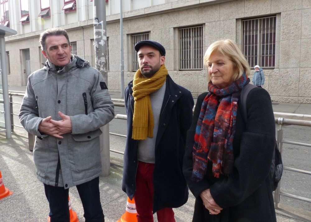 Éric Piolle, Yann Mongaburu et Francie Mégevand © Florent Mathieu - Place Gre'net