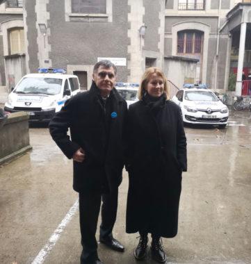 Émilie Chalas et Jean-Claude Borel-Garin ont présenté, ce 17 janvier, leurs propositions en matière de sécurité dont l'installation de la vidéoprotection © Joël Kermabon - Place Gre'net