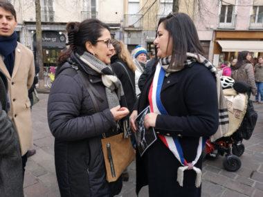 Marie-José Salat et Laëtitia Rabih « toujours Charlie ». © Joël Kermabon - Place Gre'net
