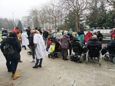 Levée de boucliers des infirmiers libéraux contre le BSI. © Joël Kermabon - Place GRe'net