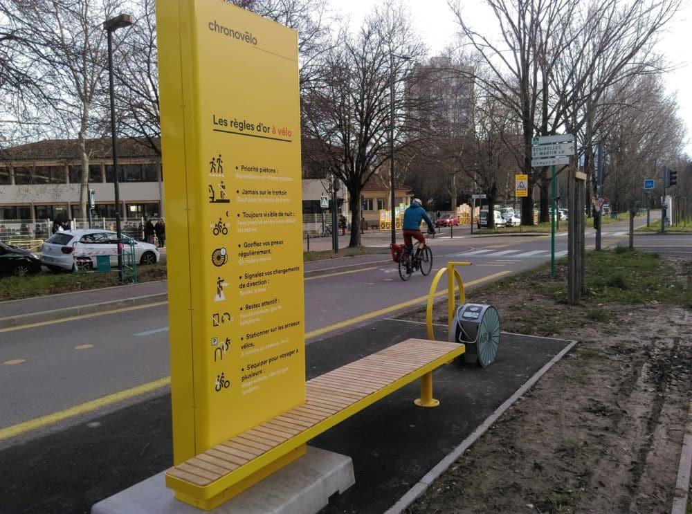 La station Chronovélo rue Léo-Lagrange © Florent Mathieu - Place Gre'net