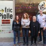 De gauche à droite les premiers noms de la liste GEC : Barbara Schuman, Sandra Krief, Céline Deslattes et Gilles namur. © Joël Kermabon - Place Gre'net