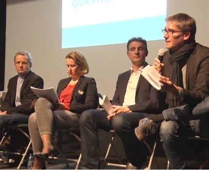 Premier débat des élections muncipales ce 28 janvier à l'Ampérage. © Joël Kermabon - Place Gre'net