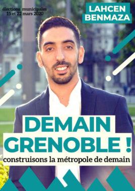 L'affiche de campagne de Lahcen Benmaza. © Demain Grenoble
