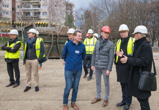 Visite du chantier du futur collège Lucie-Aubrac © Département de l'Isère