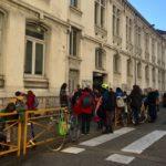 Sortie des enfants à l'école primaire Jean Jaurès, février 2020 © Ambre Croset