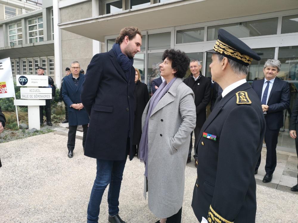 Frédérique Vidal, ministre de l'Enseignement supérieur, à Grenoble en février 2020 pour la préparation de la loi de programmation pluriannuelle de la recherche © Joël Kermabon - Place Gre'net