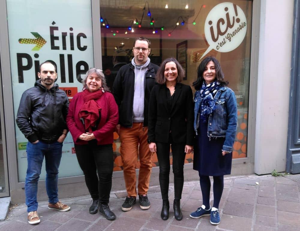 De gauche à droite Nicolas Beron Perez Sylvie Fougères Antoine Fléchet Céline Mennetrier Anouche Agobian © Florent Mathieu - Place Gre'net