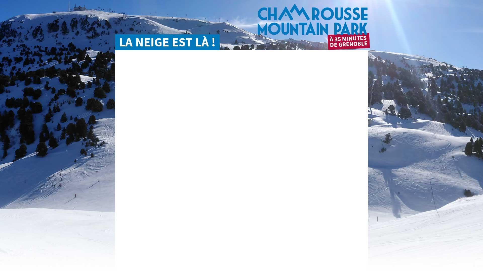 Chamrousse Mountain Park à 35 minutes de Grenoble. La neige est là !