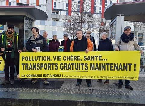Conférence de presse de La commune est à nous qui prône sur les transports en commun gratuits, le 31 janvier 2020 © Séverine Cattiaux - Place Gre'net