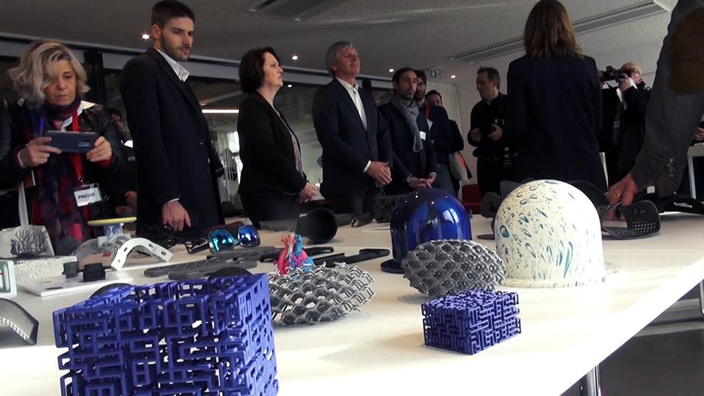 Y. Spot, maison de l'innovation ouverte au CEA GrenobleObjets 3D fabriqués dans l'atelier de prototypage rapide d'Y. Spot labs. © Véronique Magnin - Place Gre'net