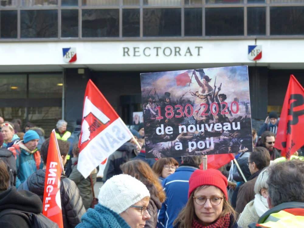 Rassemblement rectorat Grenoble mercredi 5 février 2020 © Florent Mathieu - Place Gre'net