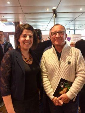 Marlène Eymond et son associé lors de la remise des prix , le 11 février 2020