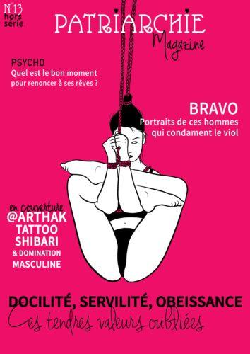 Treizième numéro de Patriarchie Magazine, en collaboration avec l'artiste tatoueur grenoblois Arthak. © Pauline Rochette, 2020