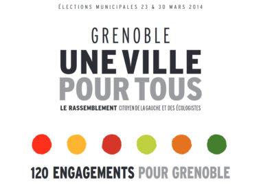 La jaquette du programme électoral présentant les 120 engagements d'Éric Piolle. DR