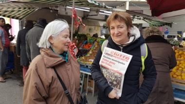 Tête de liste LO en lice pour les municipales 2020 à Grenoble, le 4 mars © Séverine Cattiaux- Place Gre'net