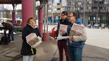 Catherine Brun, tête de liste LO en lice pour les municipales 2020 à Grenoble, le 4 mars © Séverine Cattiaux- Place Gre'net